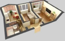 Как улучшить дизайн 2 комнатной хрущевки